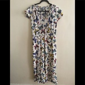Old Navy butterfly print dress. Large